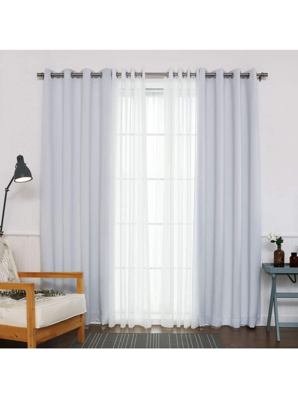 Umixm Sheer Faux Linen & Blackout Curtains – Vapor With Faux Linen Blackout Curtains (View 14 of 20)
