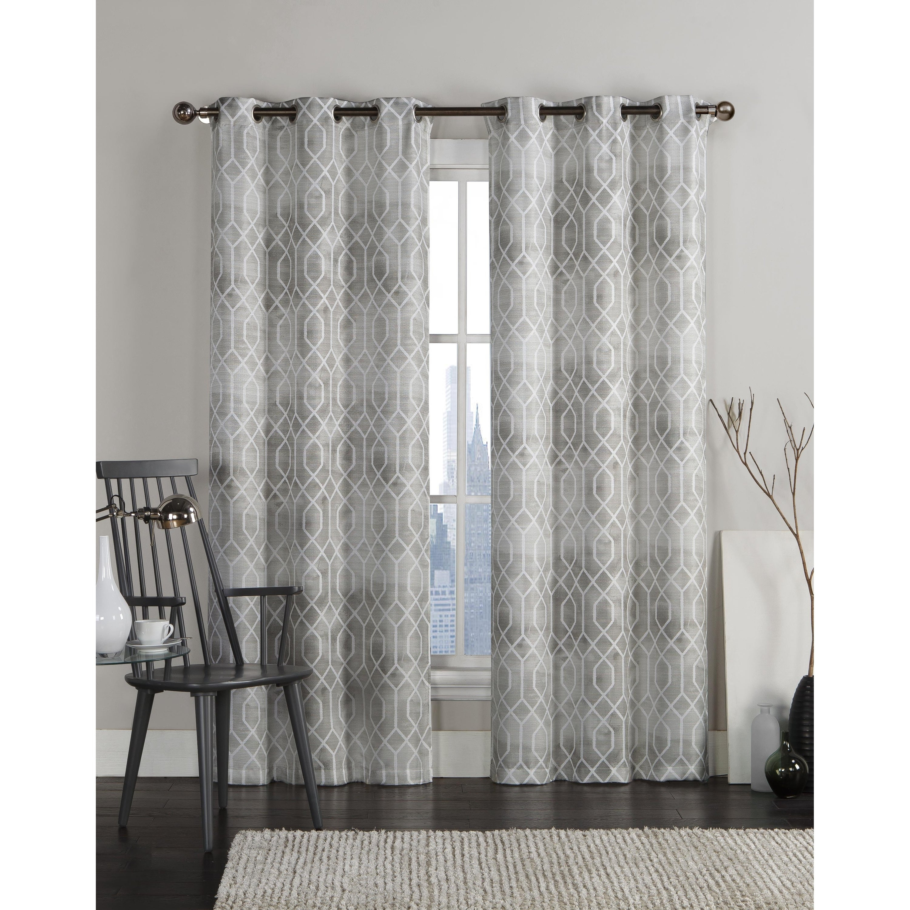 "Vcny Andreas Grommet Top 96 Inch Curtain Panel Pair – 38"" X 96"" Pertaining To Caldwell Curtain Panel Pairs (View 13 of 20)"