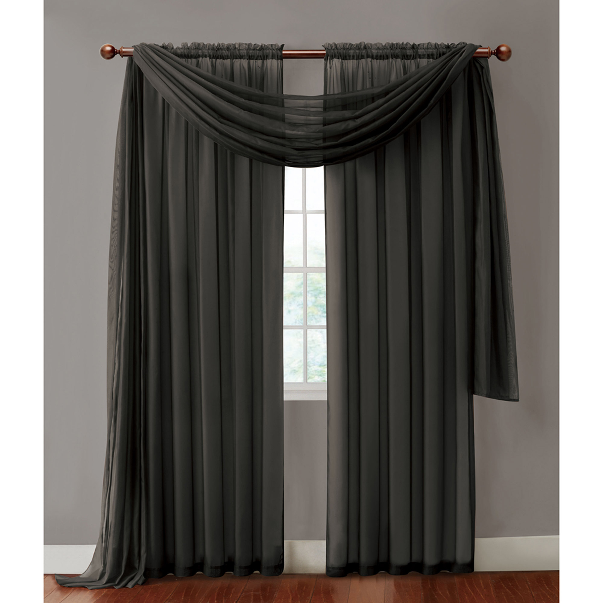 Vcny Home Infinity Sheer Rod Pocket Window Curtains, Multiple Sizes Available – Walmart Regarding Infinity Sheer Rod Pocket Curtain Panels (View 9 of 20)