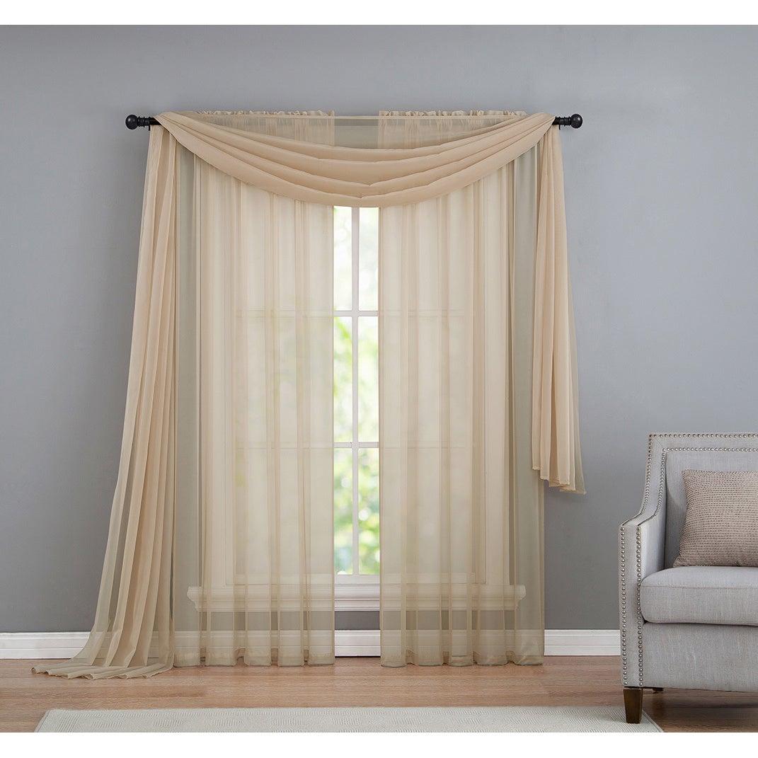 Vcny Infinity Sheer Rod Pocket Curtain Panel For Infinity Sheer Rod Pocket Curtain Panels (View 12 of 20)