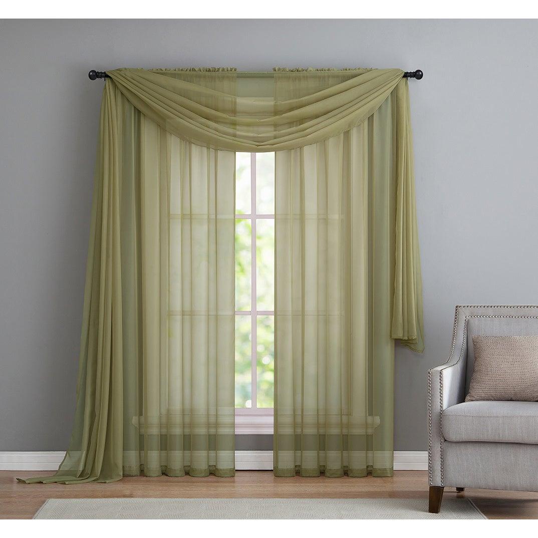 Vcny Infinity Sheer Rod Pocket Curtain Panel Pertaining To Infinity Sheer Rod Pocket Curtain Panels (View 13 of 20)