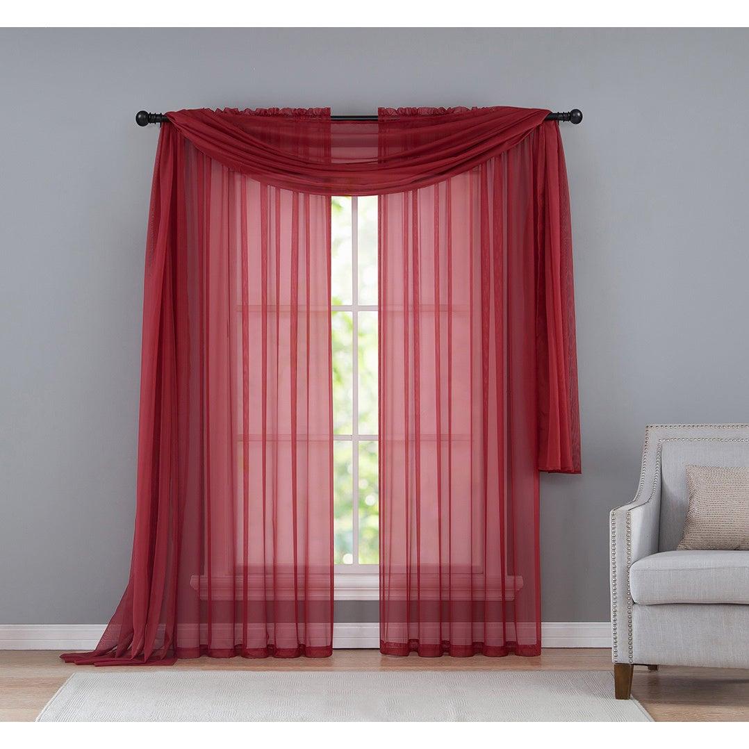 Vcny Infinity Sheer Rod Pocket Curtain Panel Throughout Infinity Sheer Rod Pocket Curtain Panels (View 15 of 20)