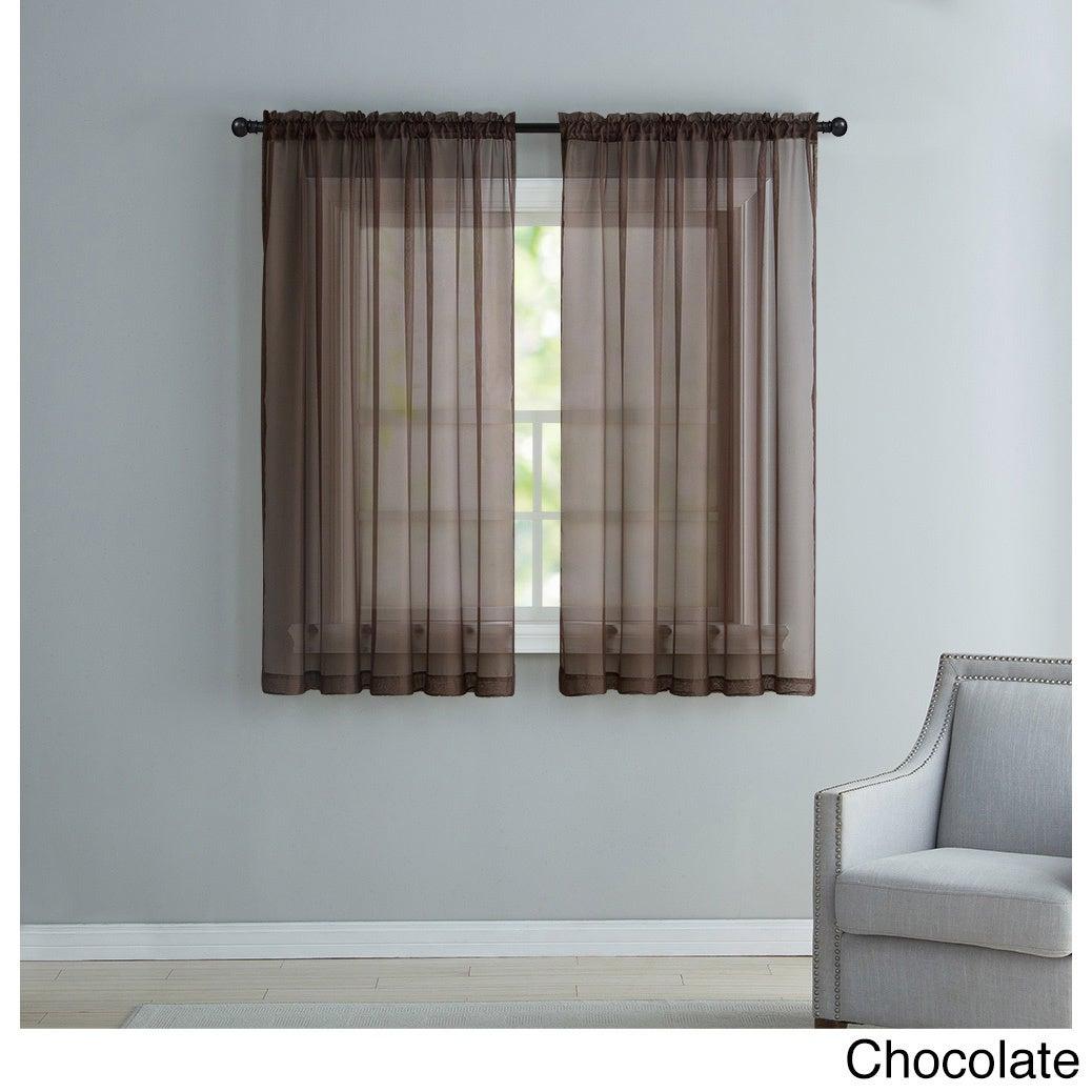 Vcny Infinity Sheer Rod Pocket Curtain Panel With Regard To Infinity Sheer Rod Pocket Curtain Panels (View 16 of 20)