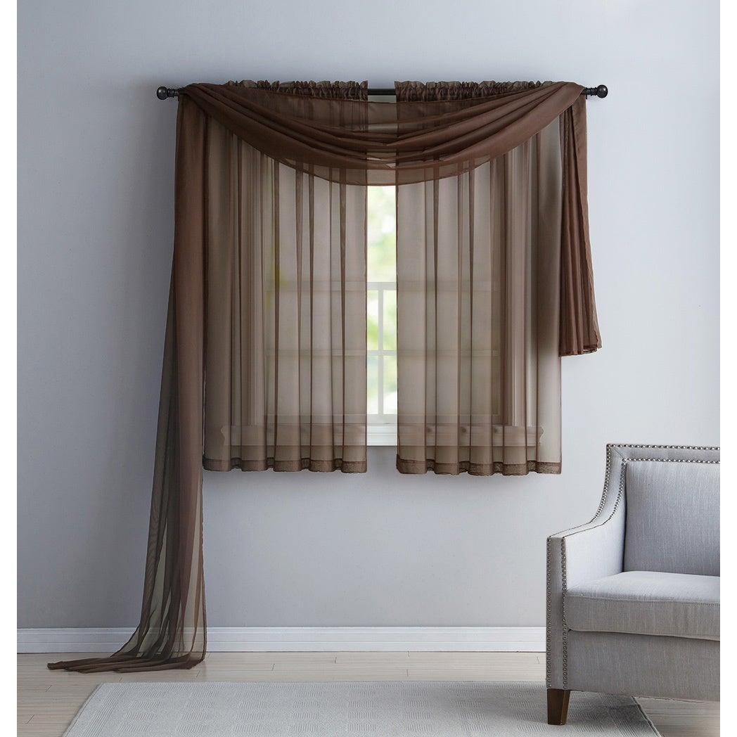 Vcny Infinity Sheer Rod Pocket Curtain Panel Within Infinity Sheer Rod Pocket Curtain Panels (View 17 of 20)