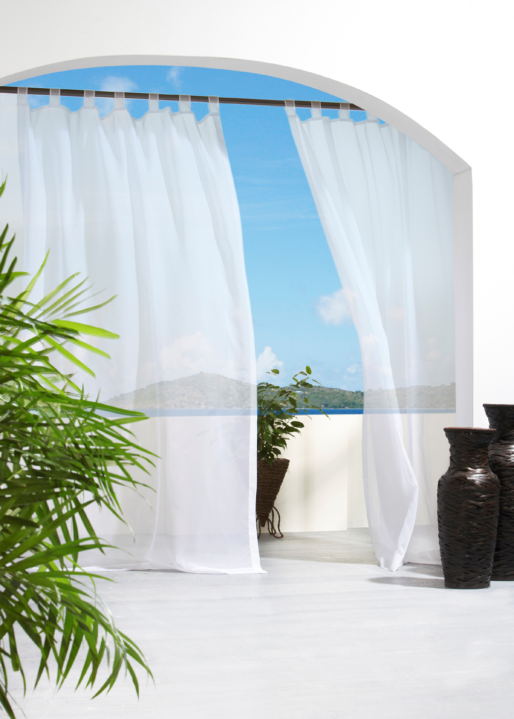 Velcro Tab Top Panel – Indoor/outdoor – Escape Voile Pertaining To Tab Top Sheer Single Curtain Panels (View 12 of 30)