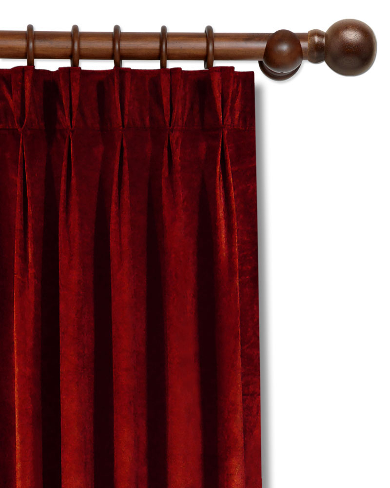 Velvet Pinch Pleat Curtains – Easy Home Decorating Ideas In Signature Pinch Pleated Blackout Solid Velvet Curtain Panels (View 36 of 36)