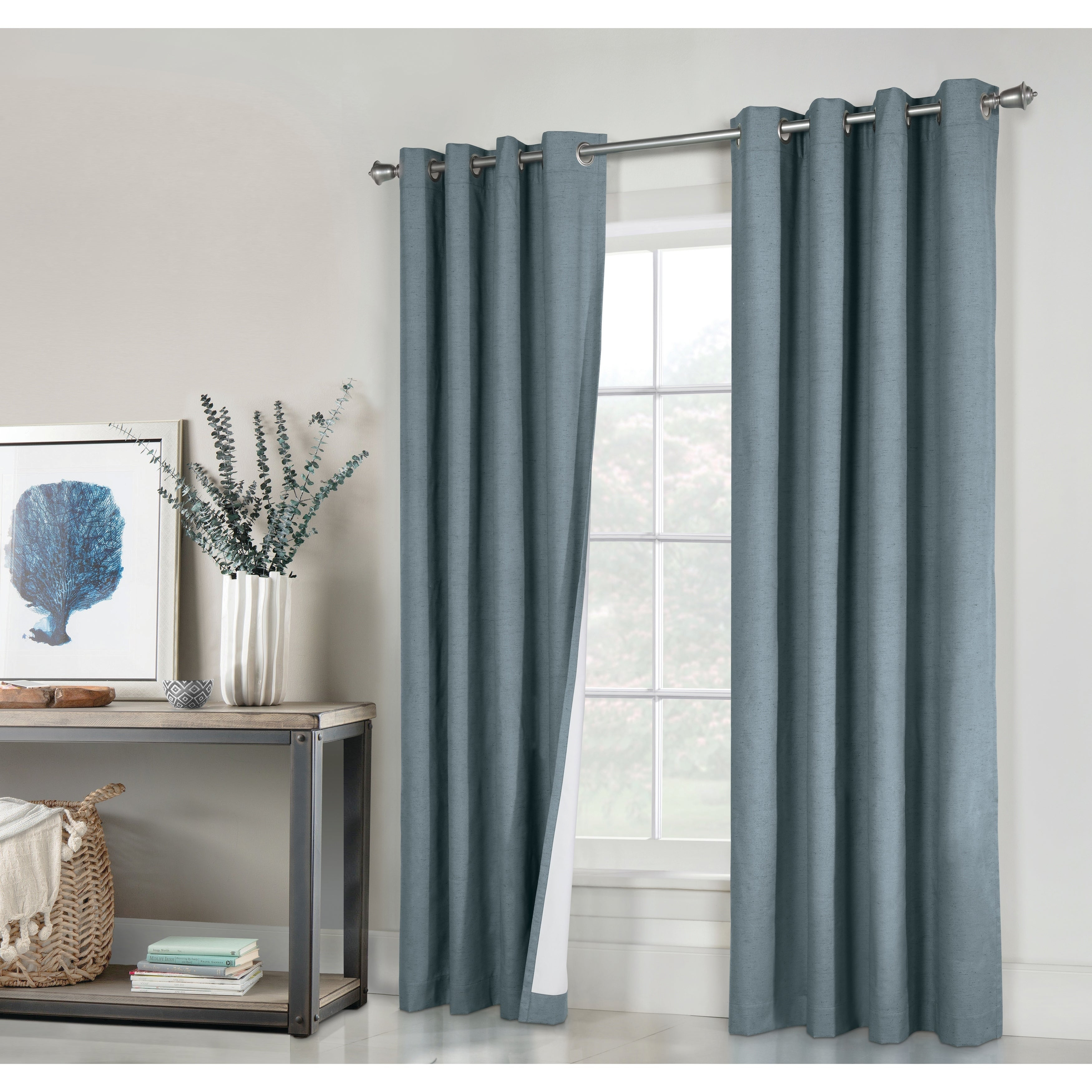 Ventura Blackout Curtain Panels Within Embossed Thermal Weaved Blackout Grommet Drapery Curtains (View 3 of 20)