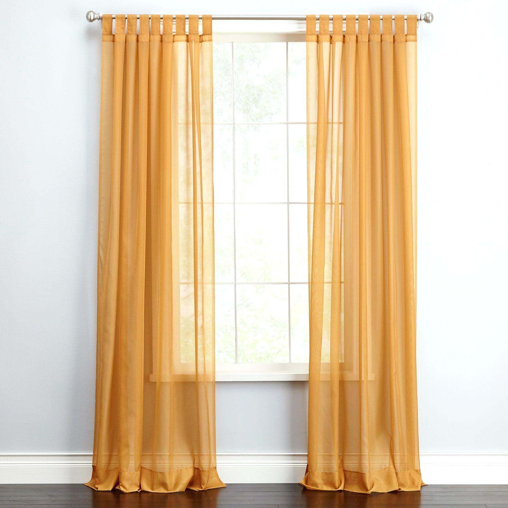 Voile Tab Top Curtains – Donnadesigns (View 20 of 20)