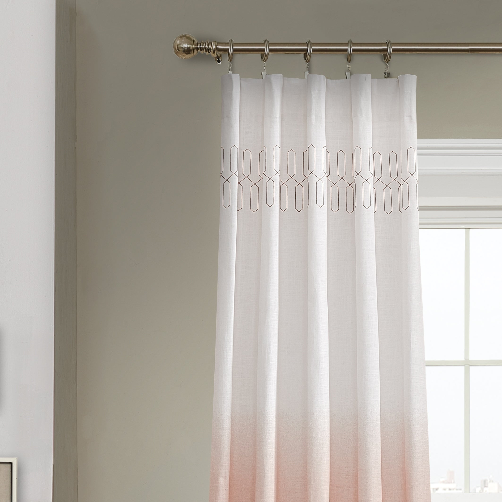 Vue Signature Arashi Ombre Embroidery Curtain Panel Regarding Ombre Embroidery Curtain Panels (View 3 of 20)