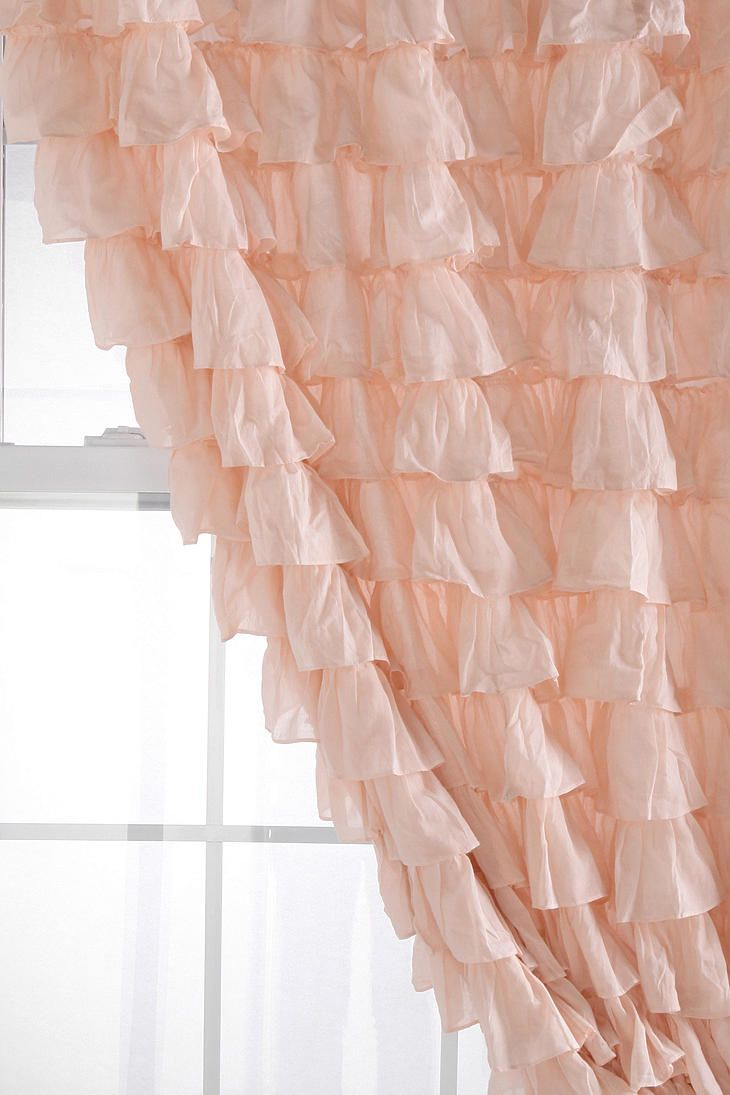 Waterfall Ruffle Curtain | Ruffle Curtains, Pink Ruffle Throughout Sheer Voile Waterfall Ruffled Tier Single Curtain Panels (View 14 of 20)