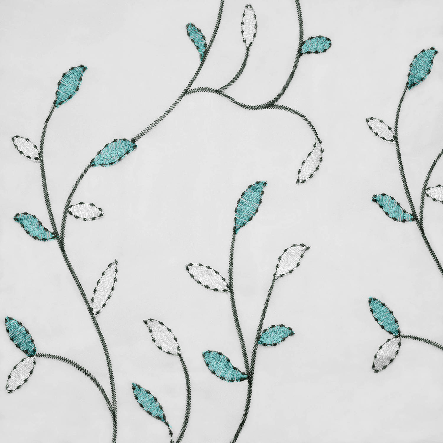 "Wavy Leaves Embroidered Sheer Extra Wide 54"" X 84"" Grommet Curtain Panel With Regard To Wavy Leaves Embroidered Sheer Extra Wide Grommet Curtain Panels (View 8 of 30)"