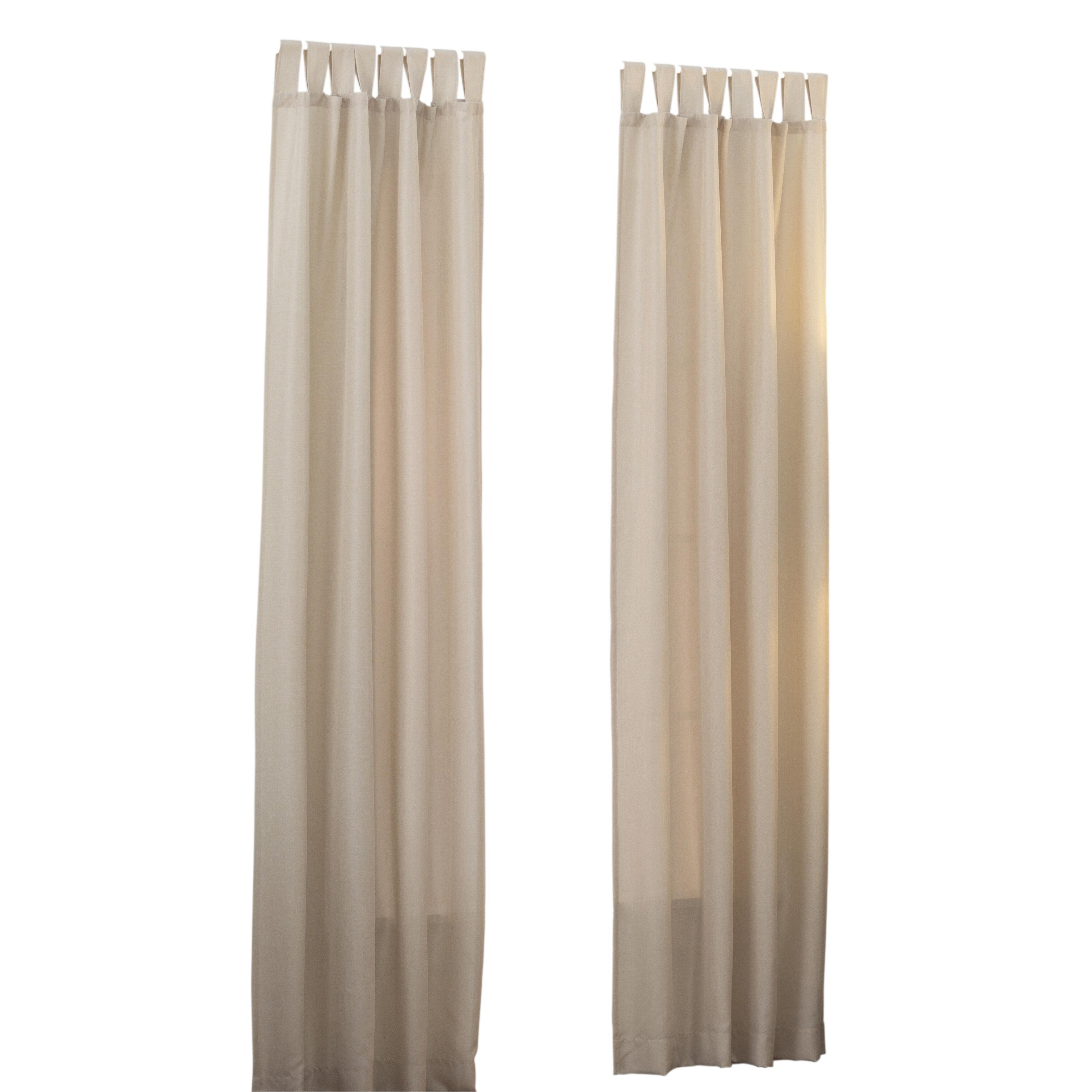 Wayfair Basics Solid Semi Sheer Tab Top Single Curtain Panel Intended For Tab Top Sheer Single Curtain Panels (View 28 of 30)
