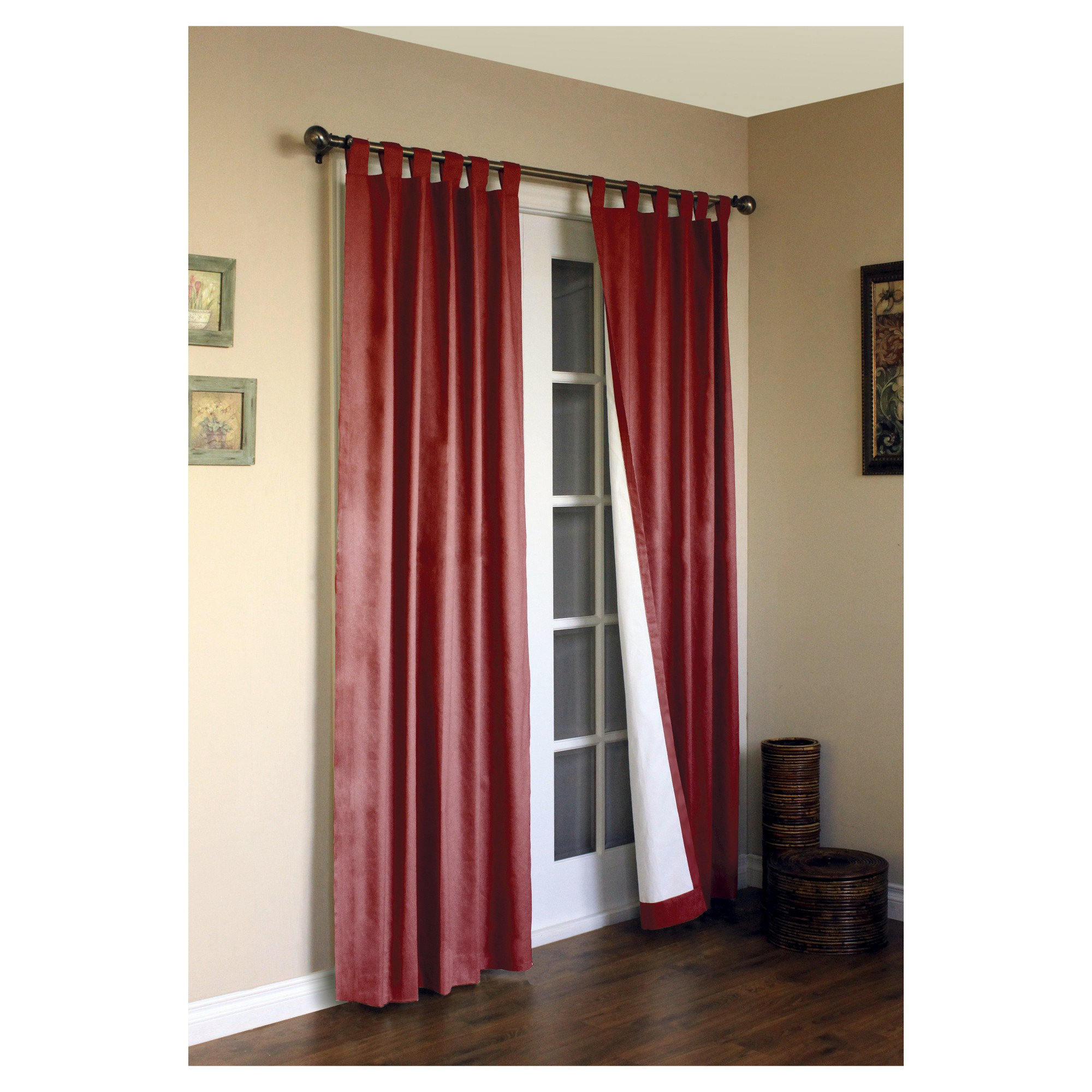 Weathermate Tab Curtain Panel Pair – Burgundy (80 X 84 Within Insulated Cotton Curtain Panel Pairs (View 4 of 20)