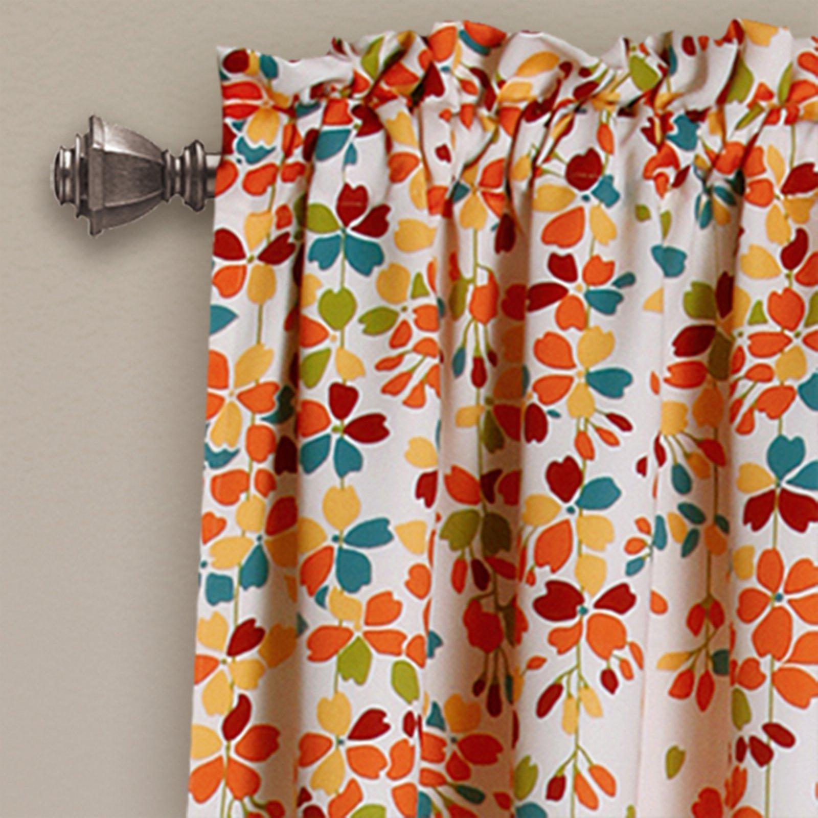 Weeping Flowers Room Darkening Window Curtain Set With Weeping Flowers Room Darkening Curtain Panel Pairs (View 5 of 30)