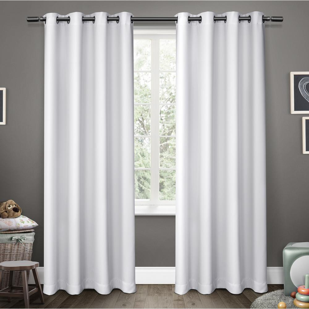 White Blackout Curtains 84 Grommet | Flisol Home Intended For Woven Blackout Curtain Panel Pairs With Grommet Top (View 20 of 30)