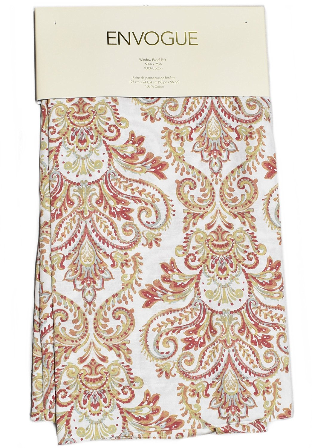 White Paisley Curtains – Home Ideas Pertaining To Lambrequin Boho Paisley Cotton Curtain Panels (View 14 of 20)