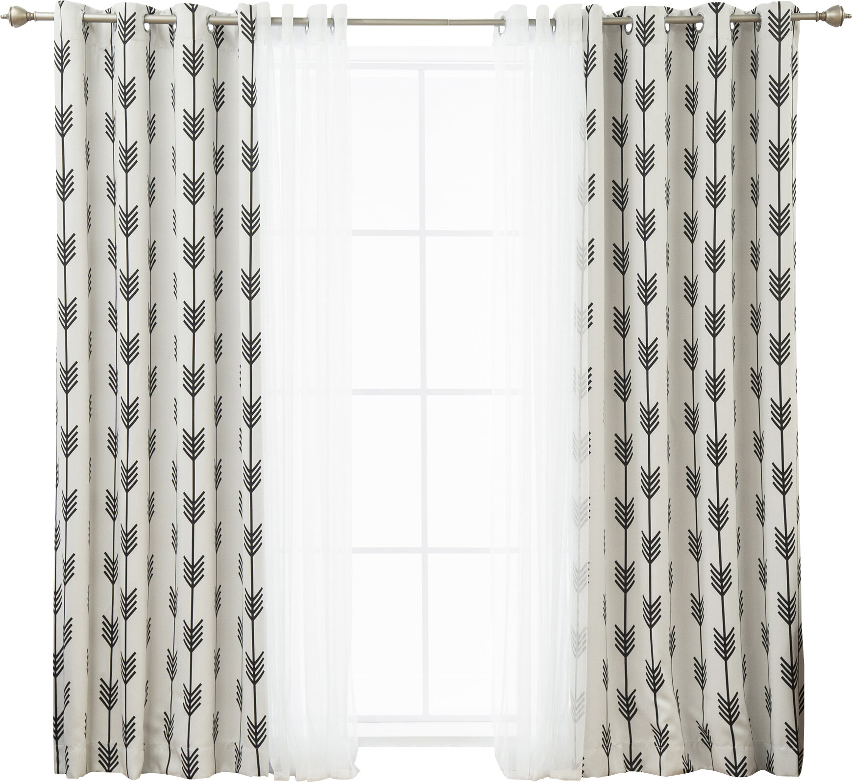 Whitlam Room Darkening Thermal Grommet Panel Pair For Ocean Striped Window Curtain Panel Pairs With Grommet Top (View 20 of 20)
