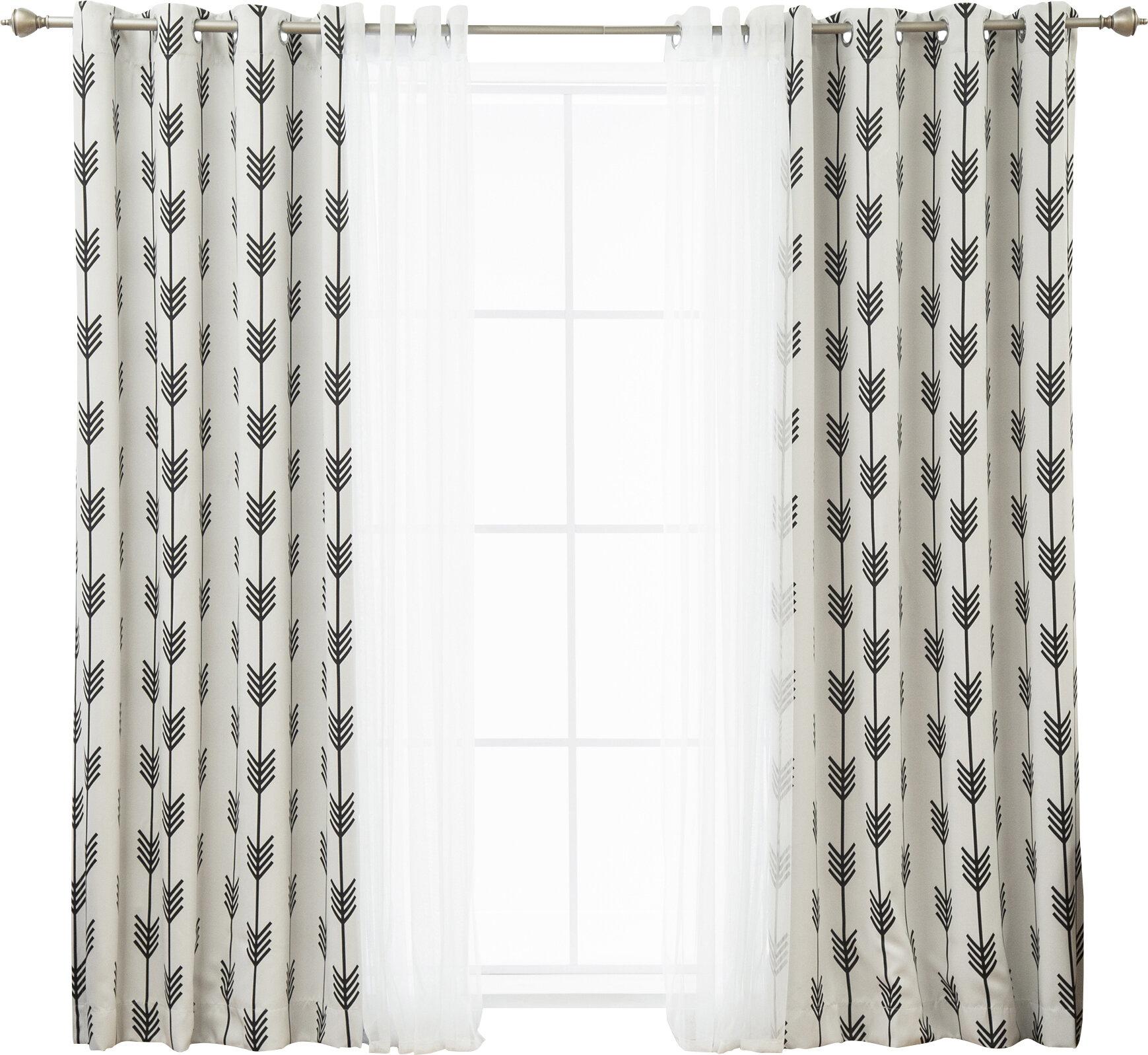 Whitlam Room Darkening Thermal Grommet Panel Pair Inside Penny Sheer Grommet Top Curtain Panel Pairs (View 9 of 20)