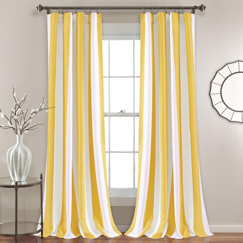 Wilbur Stripe Room Darkening Window Curtain Panels Yellow 52x84 Sethalf Moon Regarding Knotted Tab Top Window Curtain Panel Pairs (View 20 of 20)