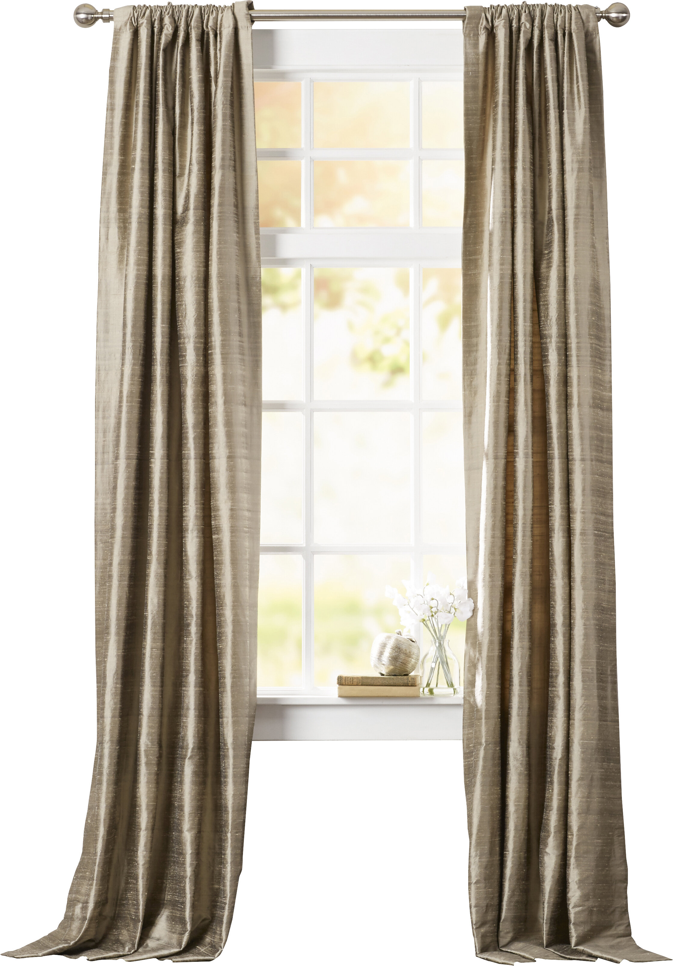 Willa Arlo Interiors Toulouse Textured Dupioni Silk Room Inside True Blackout Vintage Textured Faux Silk Curtain Panels (View 24 of 30)