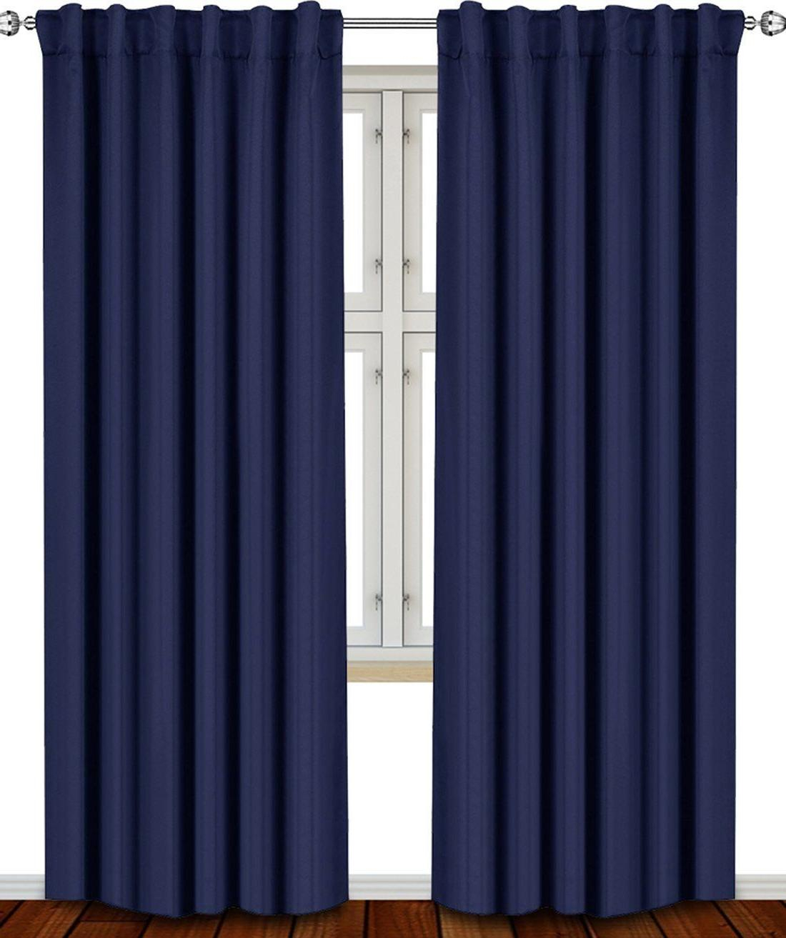 Window Curtains Blackout Room Thermal In Throughout Vina Sheer Bird Single Curtain Panels (View 21 of 30)