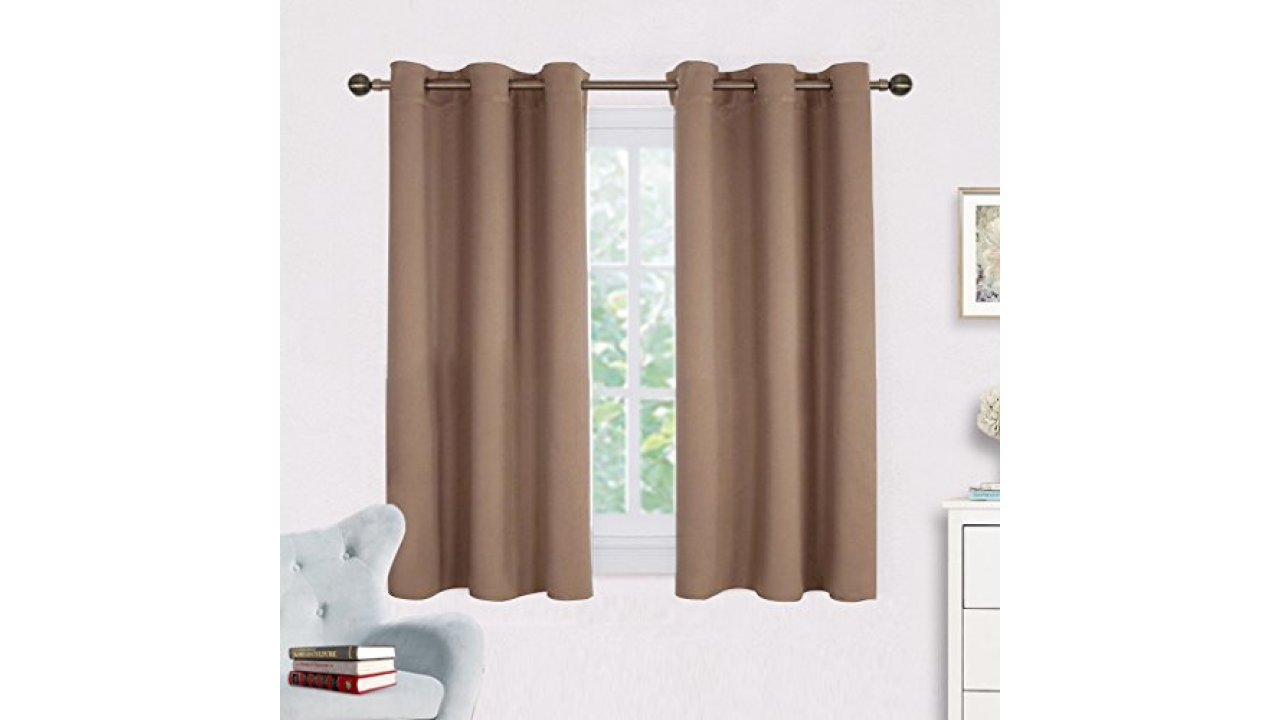 Window Draperies Blackout Curtain Panels – Nicetown Window Treatment Thermal Insulated Solid Grommet Blackout Drapes For Bedroom (One Pair,42 54 Inch,cappuccino) Regarding Solid Insulated Thermal Blackout Curtain Panel Pairs (View 30 of 30)