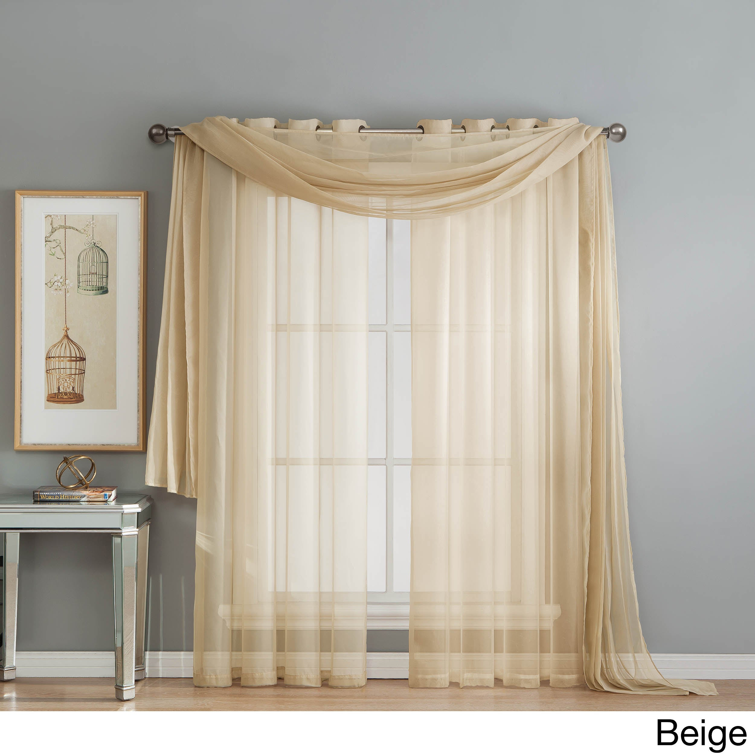 Window Elements Diamond Sheer Voile 112 X 84 In (View 10 of 20)