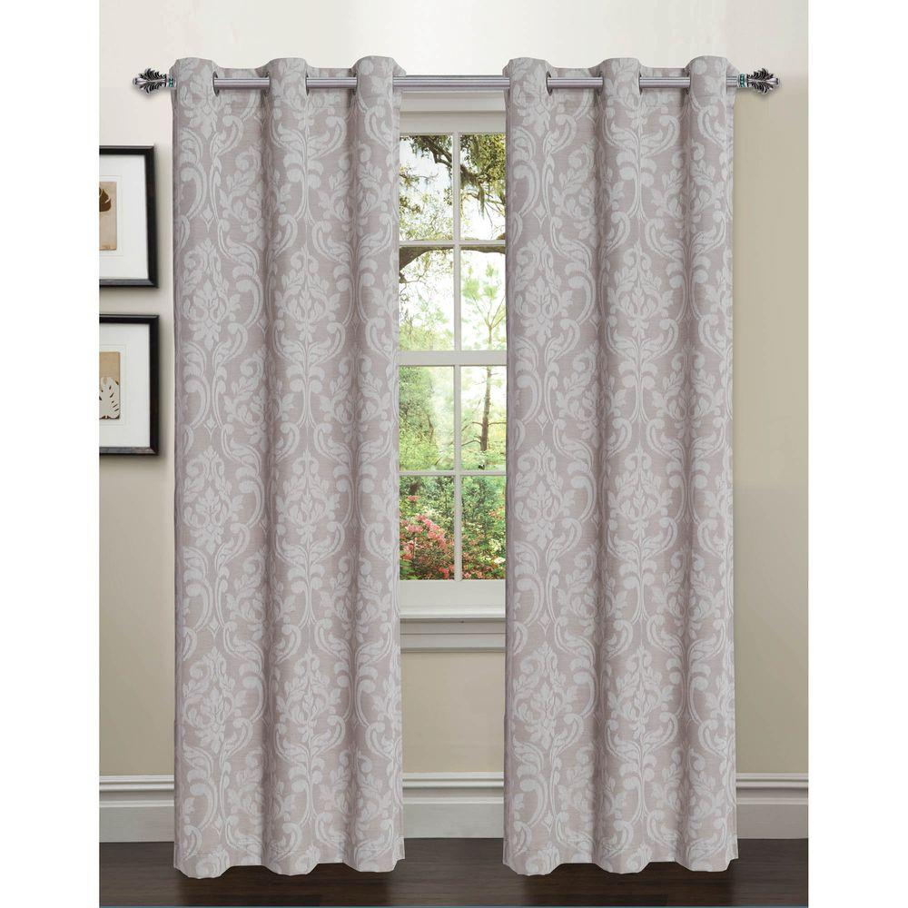 Window Elements Semi Opaque Elinor Linen Blend Jacquard 84 In (View 20 of 30)