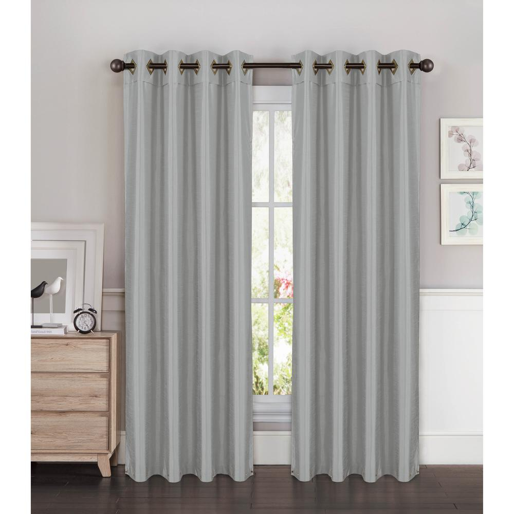 Window Elements Semi Opaque Kim Faux Silk Extra Wide 96 In (View 21 of 30)