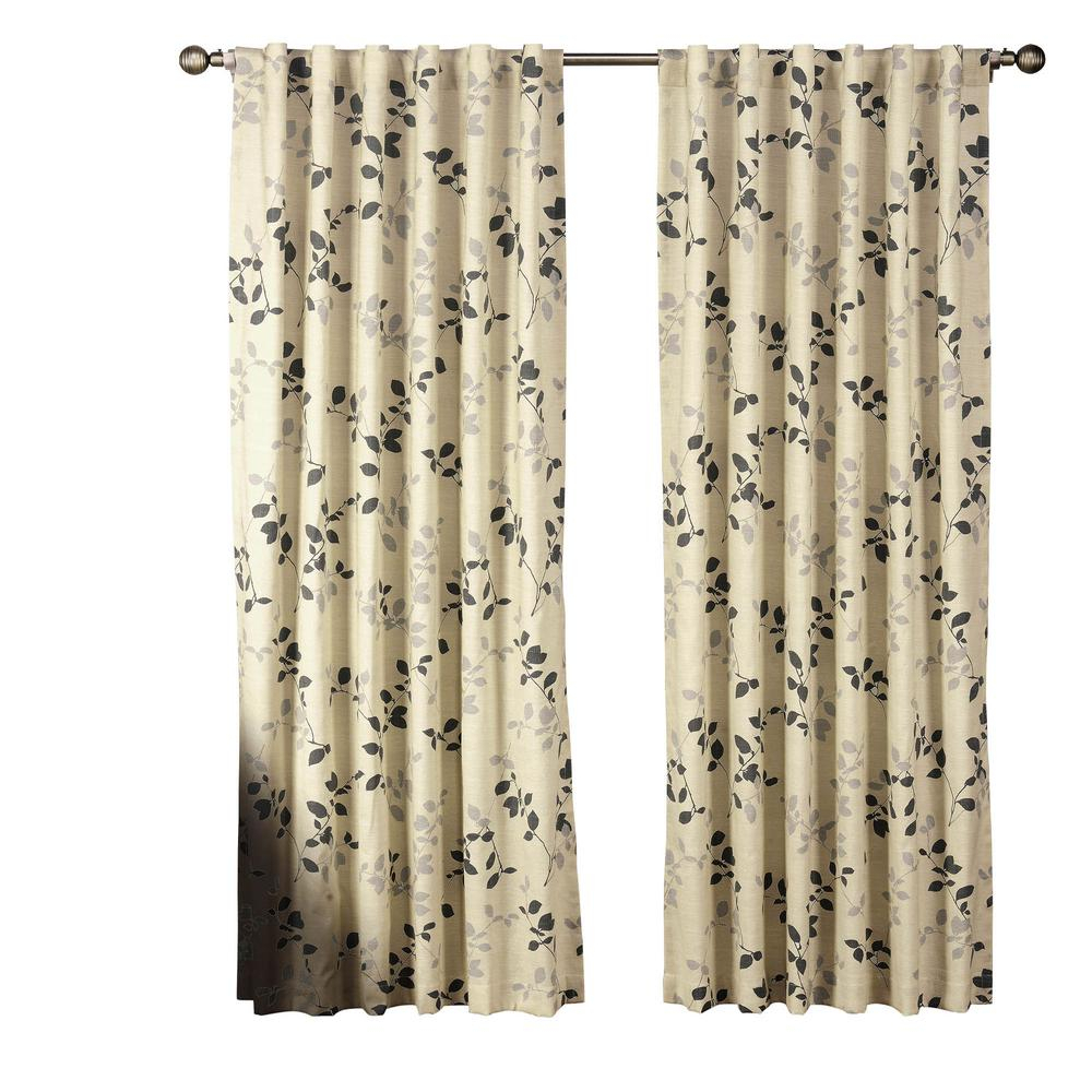 Window Elements Semi Opaque Meridian Printed Cotton Blend 84 In (View 18 of 20)