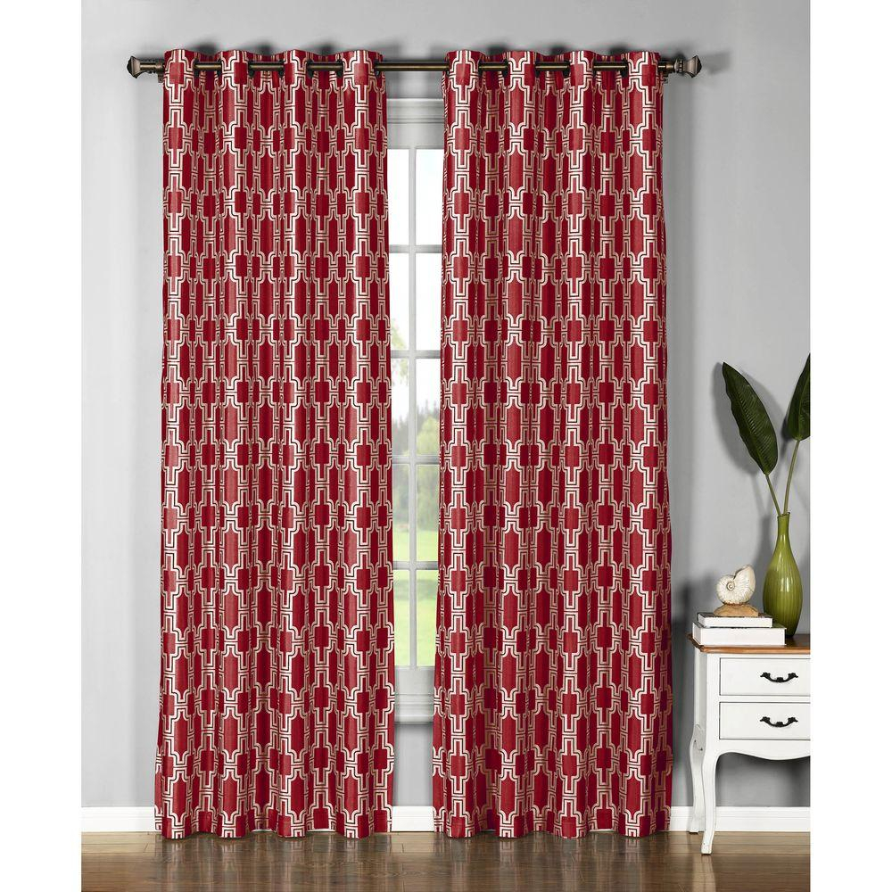 Window Elements Semi Opaque Wesley Faux Silk Extra Wide 96 In (View 8 of 20)
