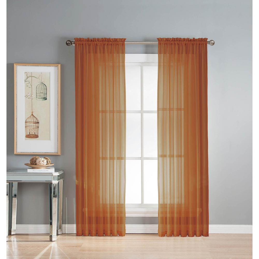 Window Elements Sheer Diamond Sheer Voile Extra Wide 84 In (View 9 of 20)