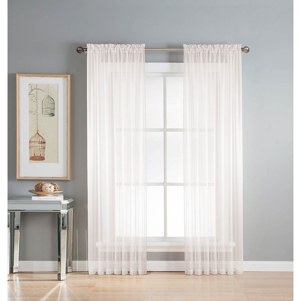 Window Elements Sheer Diamond Sheer Voile Extra Wide 84 In (View 3 of 20)