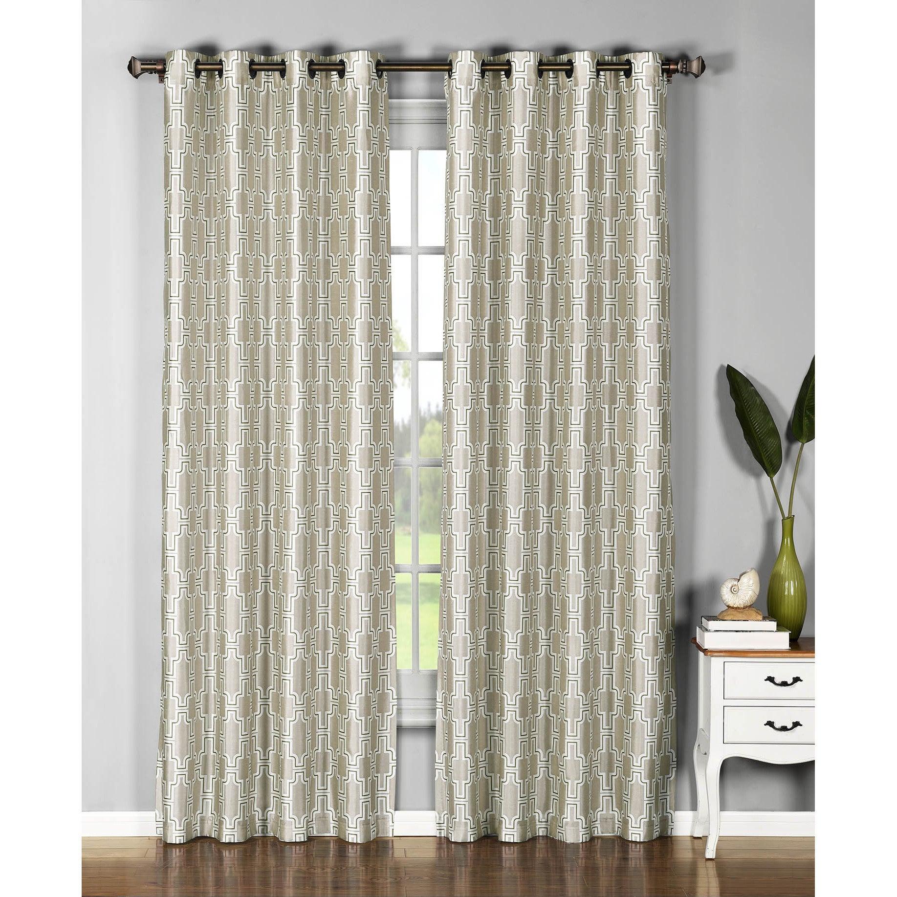 Window Elements Wesley Sheer Grommet Curtain Panel Pair - 54 X 96 inside Grommet Curtain Panels (Image 20 of 20)