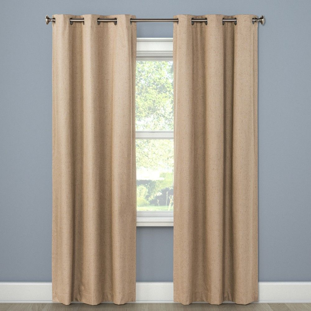 "Windsor Blackout Curtain Panel Teal (42""x84"") Eclipse With Regard To Inez Patio Door Window Curtain Panels (View 14 of 20)"