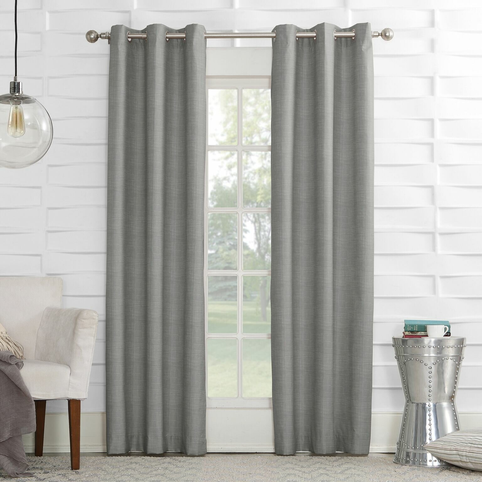 Winslow Solid Room Darkening Thermal Grommet Single Curtain Panel With Thermal Textured Linen Grommet Top Curtain Panel Pairs (View 10 of 30)
