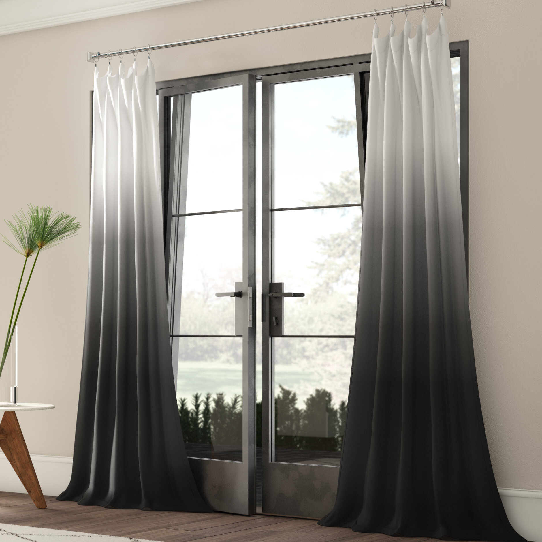 Winterbourne Synthetic Semi Sheer Rod Pocket Single Curtain Panel Intended For Single Curtain Panels (View 5 of 31)