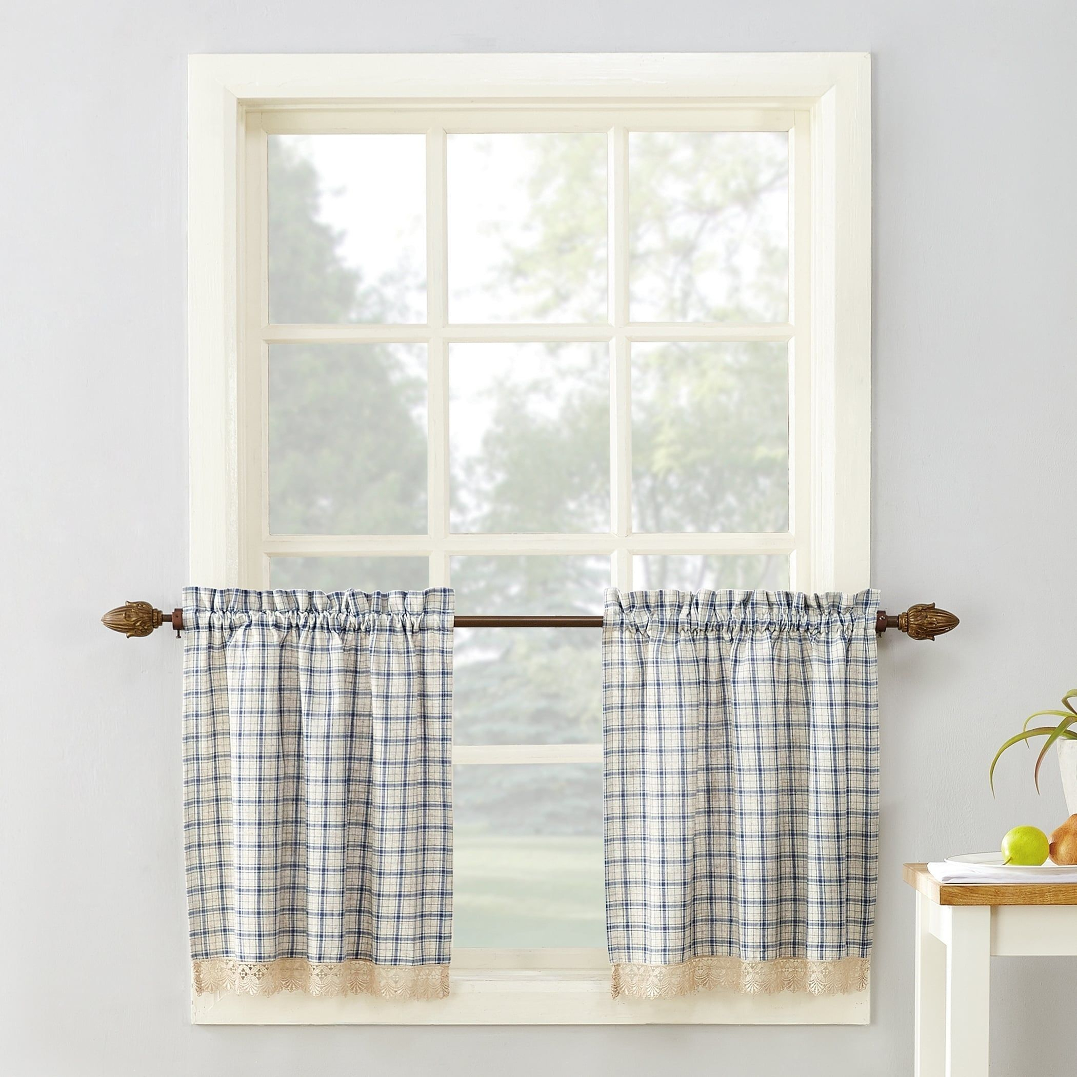12+ Impressive Curtains Ideas Valance Ideas In 2019 | Drop Within Twill 3 Piece Kitchen Curtain Tier Sets (Gallery 8 of 20)