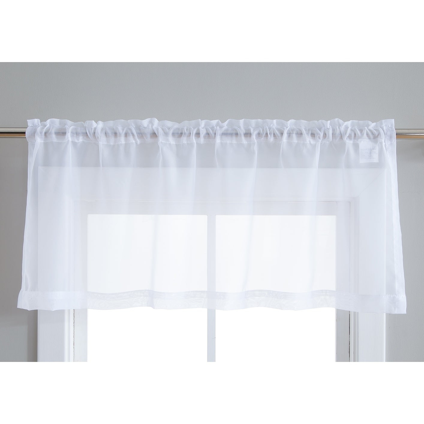 2 Piece Premium Sheer Voile Window Grommet Short Curtain Valance Café Tiers Panels Bathroom & Kitchen – Set Of 2 Valances Throughout Traditional Two Piece Tailored Tier And Valance Window Curtains (View 15 of 20)