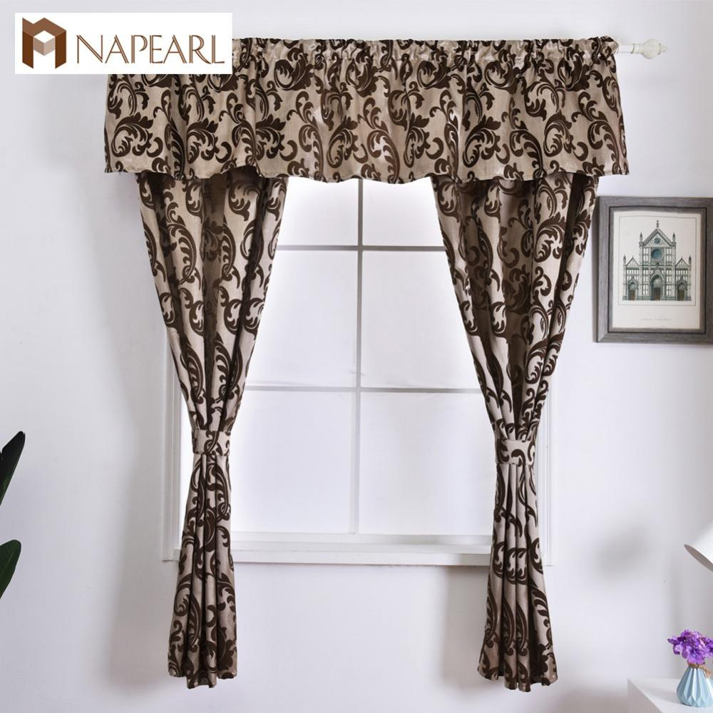2019 Napearl Rustic Decorative Kitchen Curtain Hanging Pelmet Manufactured Sewing Drapes Window Valance And Tiers Classic Short Drops From Adeir, Throughout Tree Branch Valance And Tiers Sets (View 12 of 20)