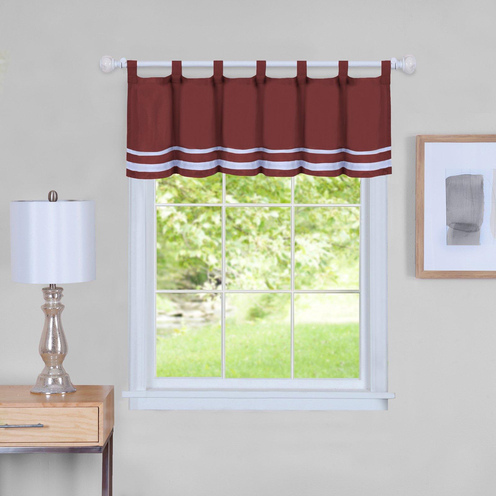 Achim Dakota Window Curtain Valance Burgundy   Products In Intended For Dakota Window Curtain Tier Pair And Valance Sets (View 5 of 20)