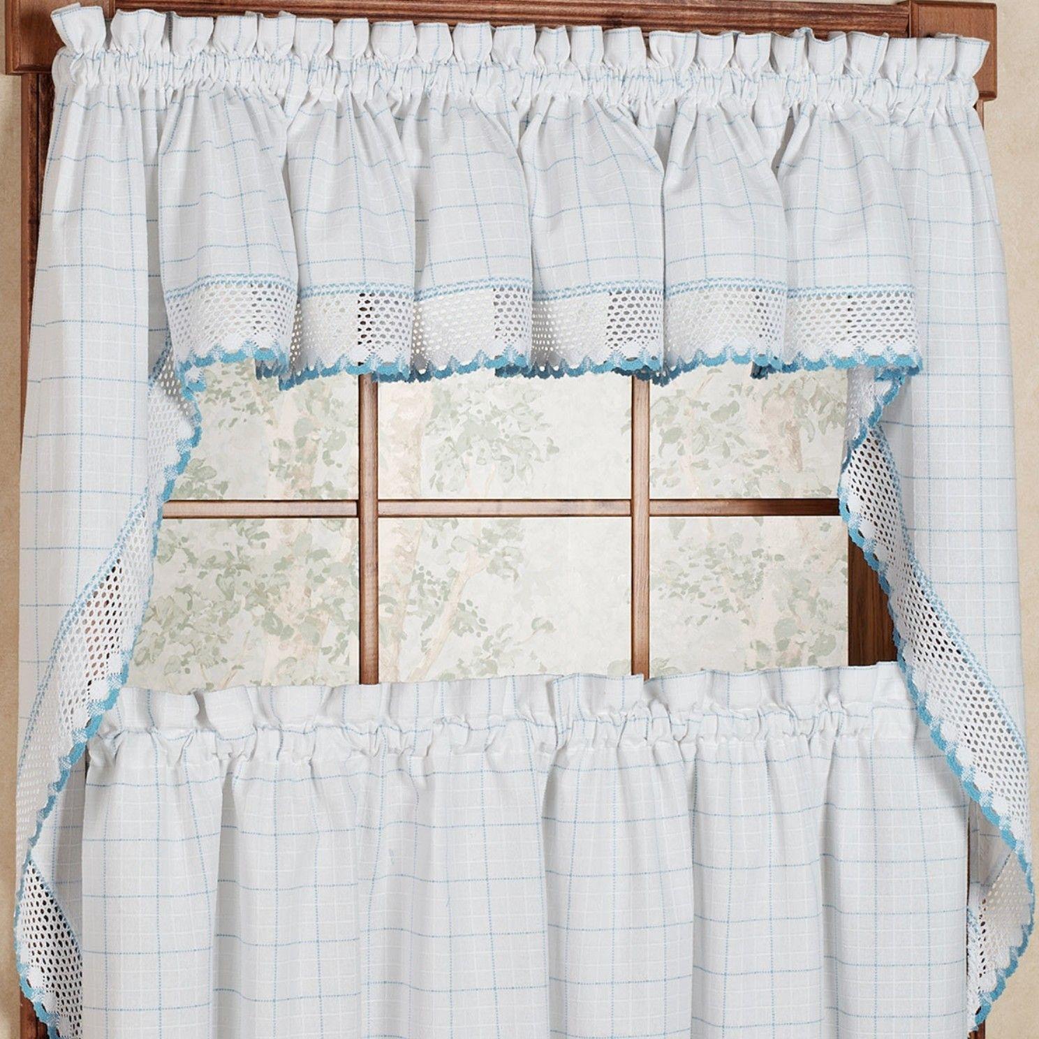 "Adirondack 38"" Cotton Kitchen Window Swag Curtain Valance Regarding Classic Kitchen Curtain Sets (View 2 of 20)"