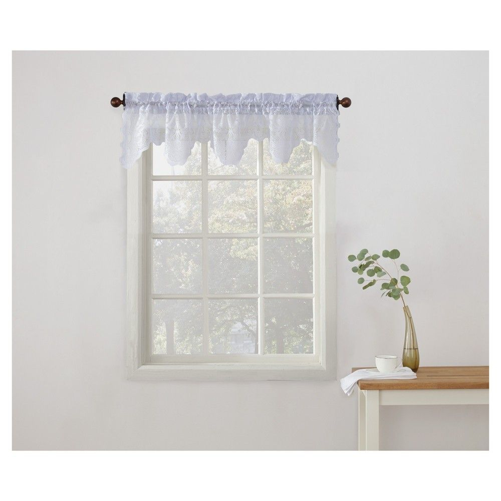 Popular Photo of Sheer Lace Elongated Kitchen Curtain Tier Pairs