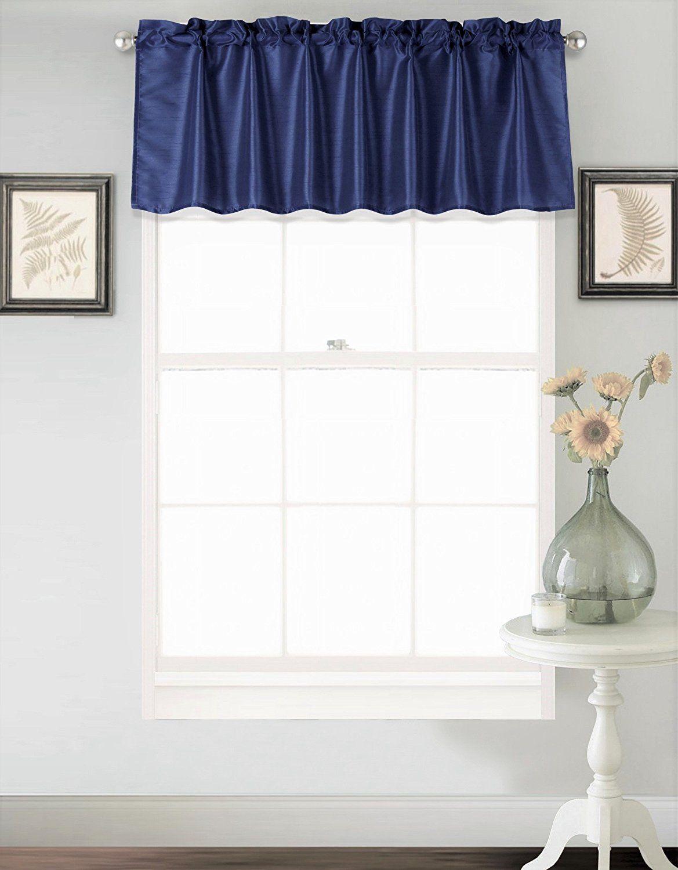 Amazon: Gorgeoushomelinen (s18) 1 Elegant Straight Faux Inside Luxury Light Filtering Straight Curtain Valances (View 8 of 20)