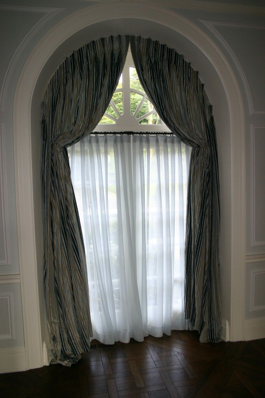 Arched Window Treatments Home Decoration Ideas Half Circle With Regard To Circle Curtain Valances (View 1 of 20)