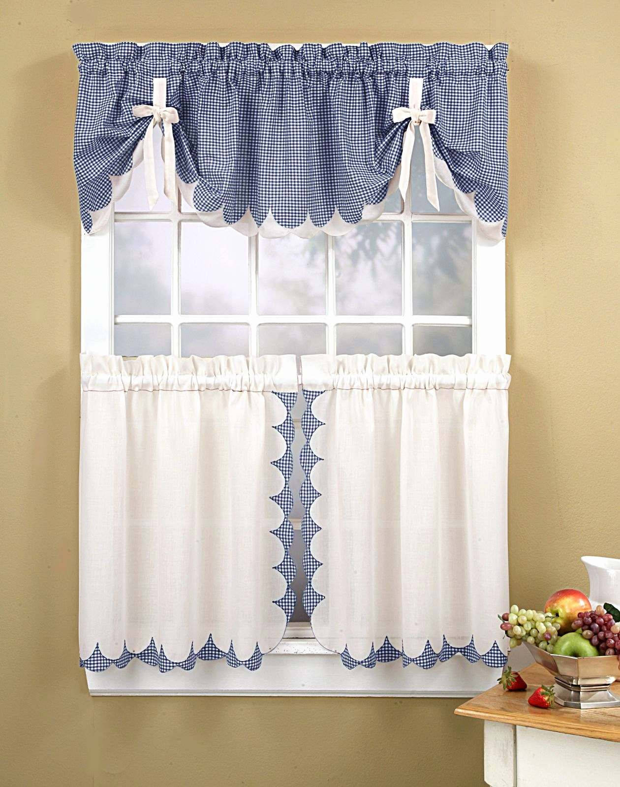 Astounding Country Living Kitchen Curtains High Style For For Coastal Tier And Valance Window Curtain Sets (View 7 of 20)