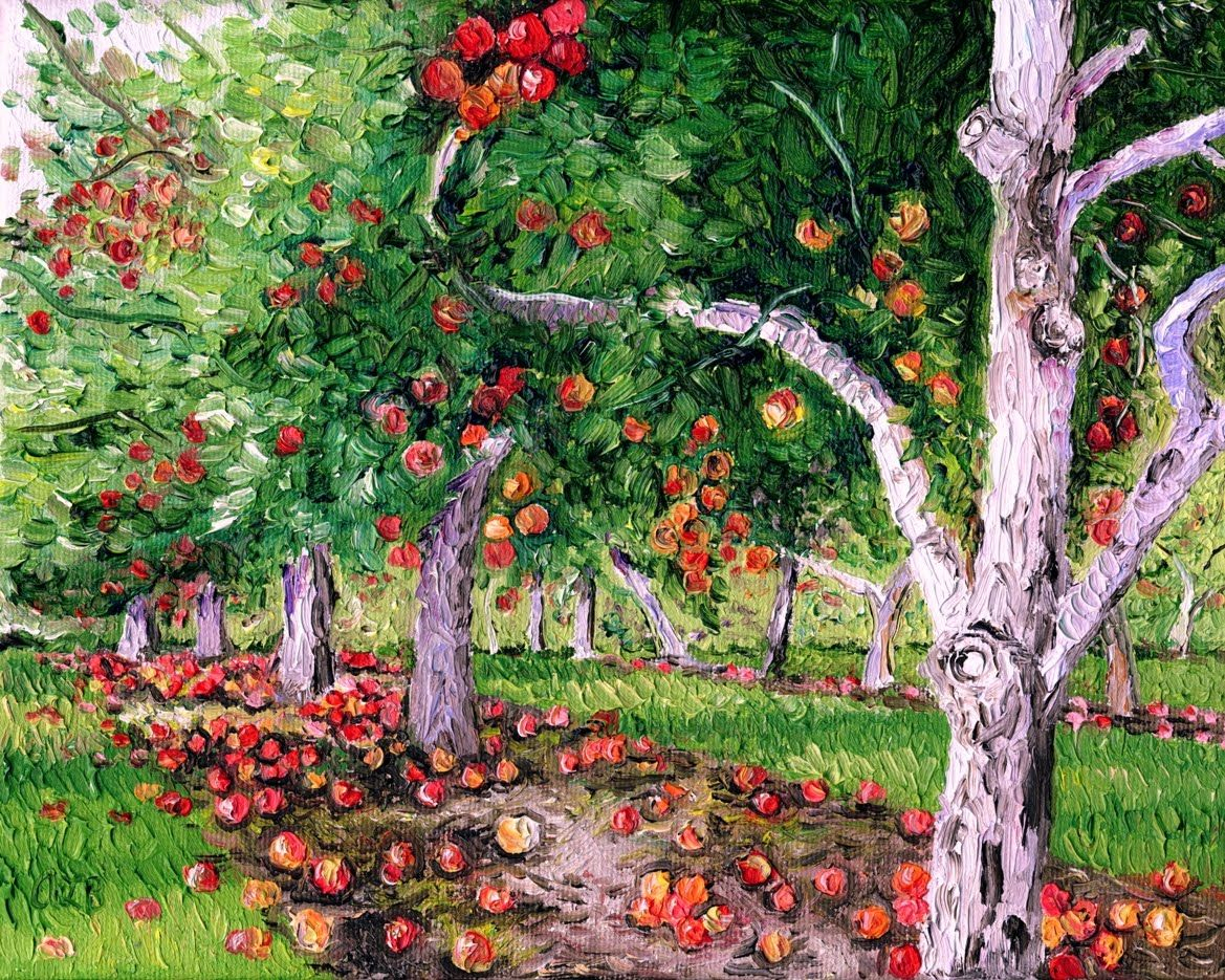 """Audra's Oil Paintings: Apple Orchard (2010), 8 X 10"""" In 2019 With Regard To Apple Orchard Printed Kitchen Tier Sets (View 8 of 20)"""