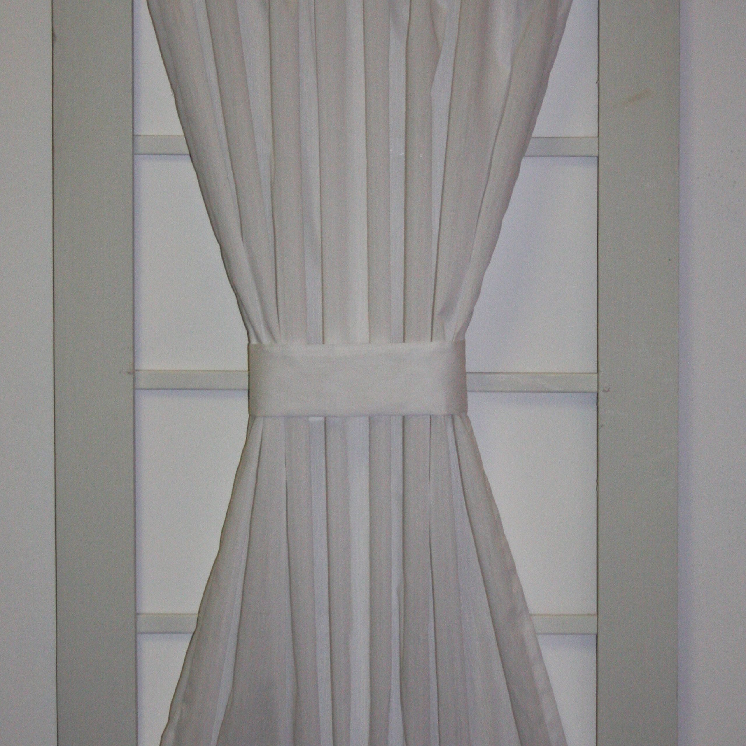 August Grove Howerton Solid Door Panel Curtain Intended For Ivory Micro Striped Semi Sheer Window Curtain Pieces (View 3 of 20)