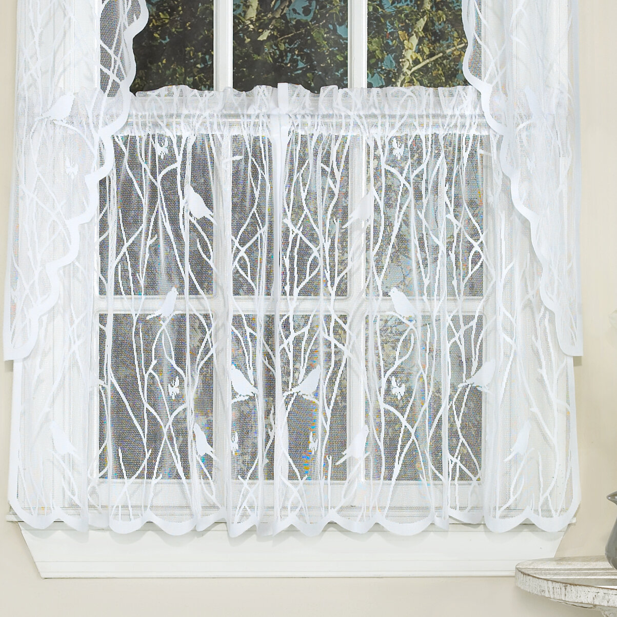 """August Grove Nauman 56"""" Cafe Curtain & Reviews 