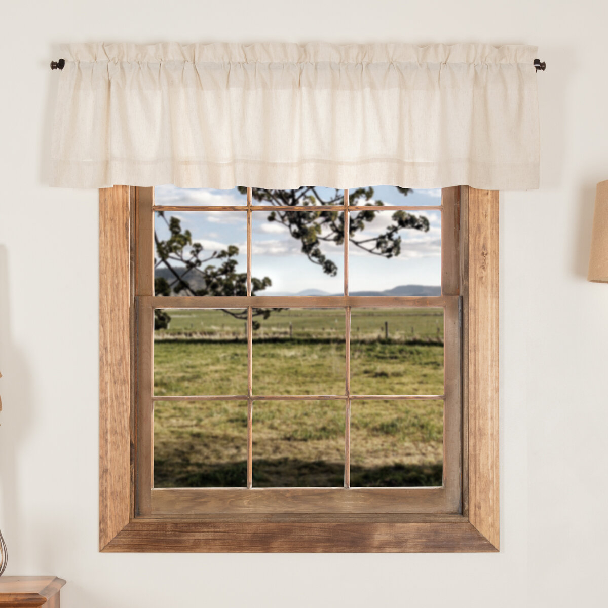 August Grove Vhc Farmhouse French Country Curtains Simple With Regard To Simple Life Flax Tier Pairs (View 1 of 20)